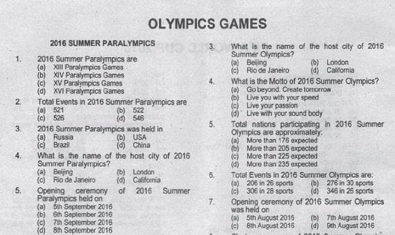Olympics Games PPSC