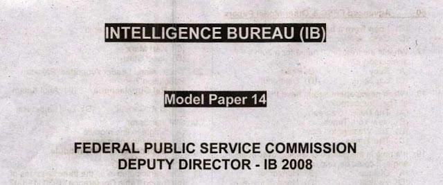 intelligence Bureau MCQs