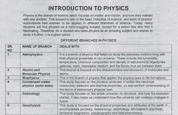 PPSC Test Physics