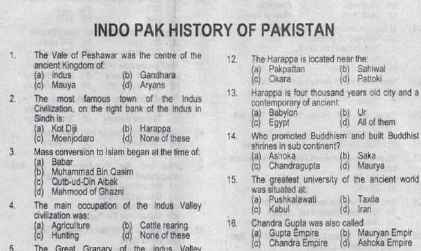 Pakistan Study History PPSC