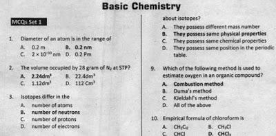 Basic Chemistry Test