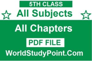 5th Class All Subjects