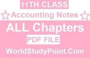 1st Year Principal of Accounting