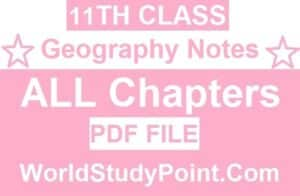 1st Year Geography Notes