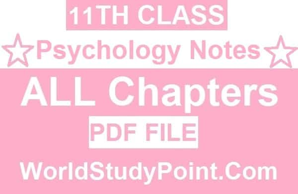 1st Year Psychology Notes