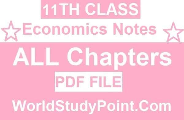 1st Year Economics Notes