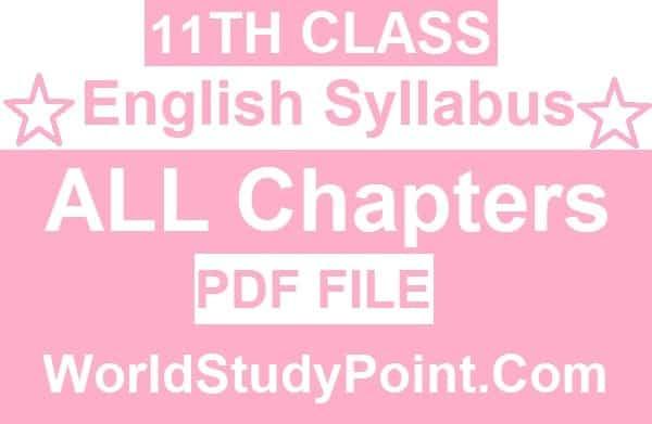 1st Year English Latest Syllabus Notes