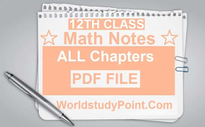 2nd Year Math Notes