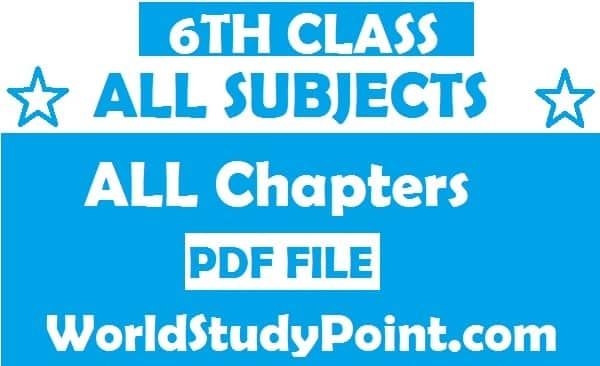6th Class All Subjects Notes