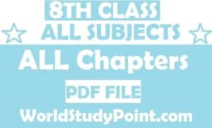 8th Class All Subjects Punjab Board Exam