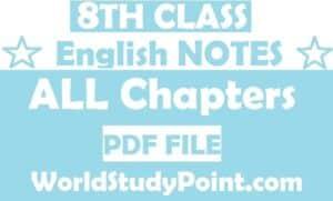 8th Class English