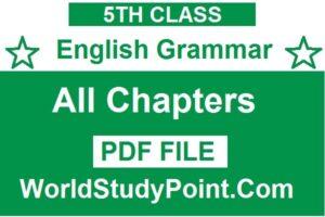 5th Class English Grammar Notes