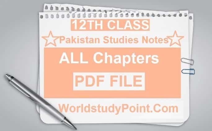 2nd Year Pakistan Studies Notes