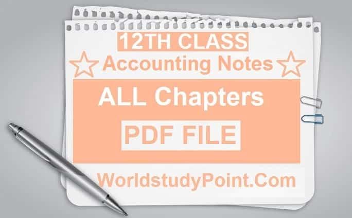 2nd Year Principals of Accounting Notes
