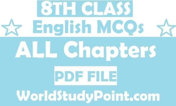 8th Class English MCQs Test