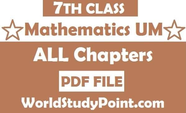 7th Class Mathematics Notes