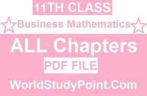 1st Year Business Mathematics