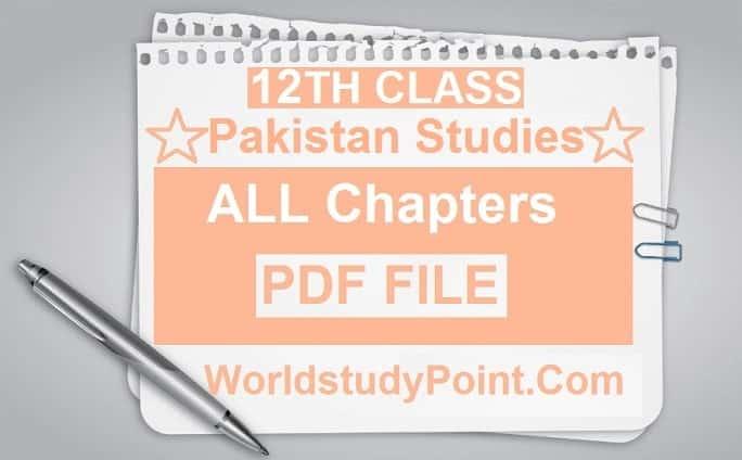 2nd Year Pakistan Studies