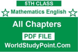 5th Class Mathematics