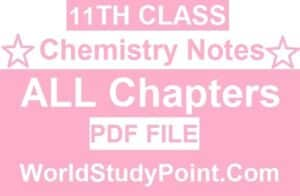 1st Year Chemistry Notes
