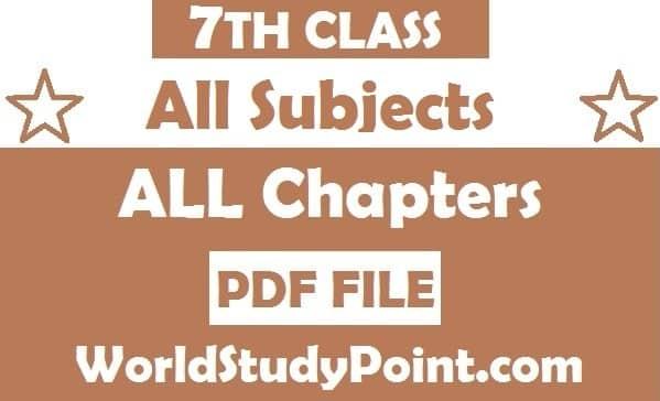 7th Class All Subjects Punjab Board