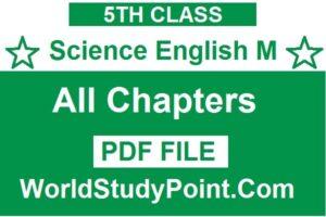 5th Class Science Subject English Medium Notes