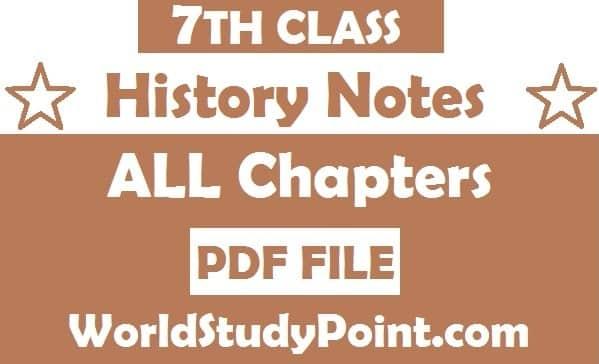 7th Class History