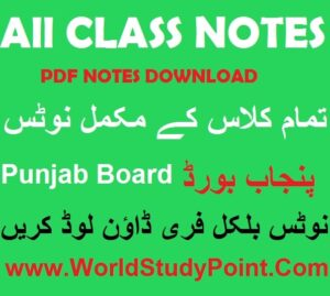 Class Notes All Subjects Punjab Board