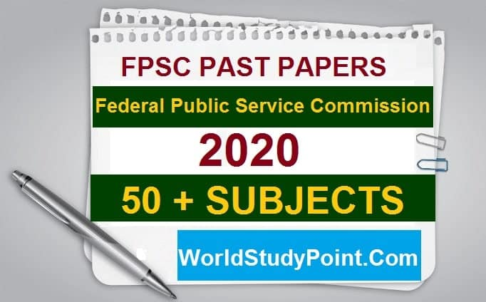 FPSC Past Papers 2020 All Subjects