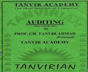 Auditing Subject Prof. Ch. Tanvir Ahmad