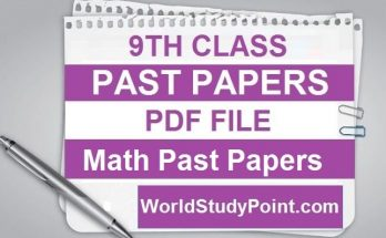 9th Class Math Past Papers