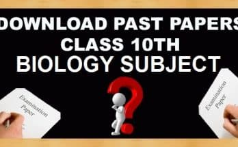 10th Class Biology Subject Past Papers