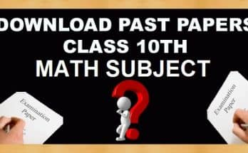 10th Class Math Past Papers