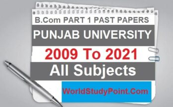B.com Part 1 All Subjects Past Papers