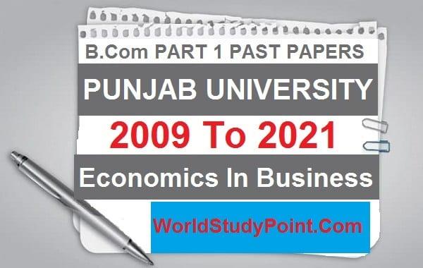 B Com Part 1 Economics In Business Past Papers
