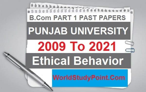B.com Part 1 Ethical Behavior