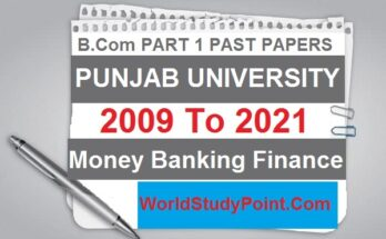 B.Com Part 1 Money Banking Finance